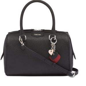 Calvin Klein Leather Satchel with Charm Hanger